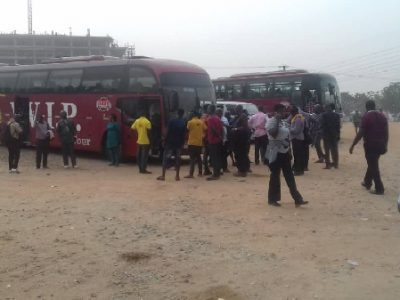 Menzgold customers storm NAM 1's house in buses