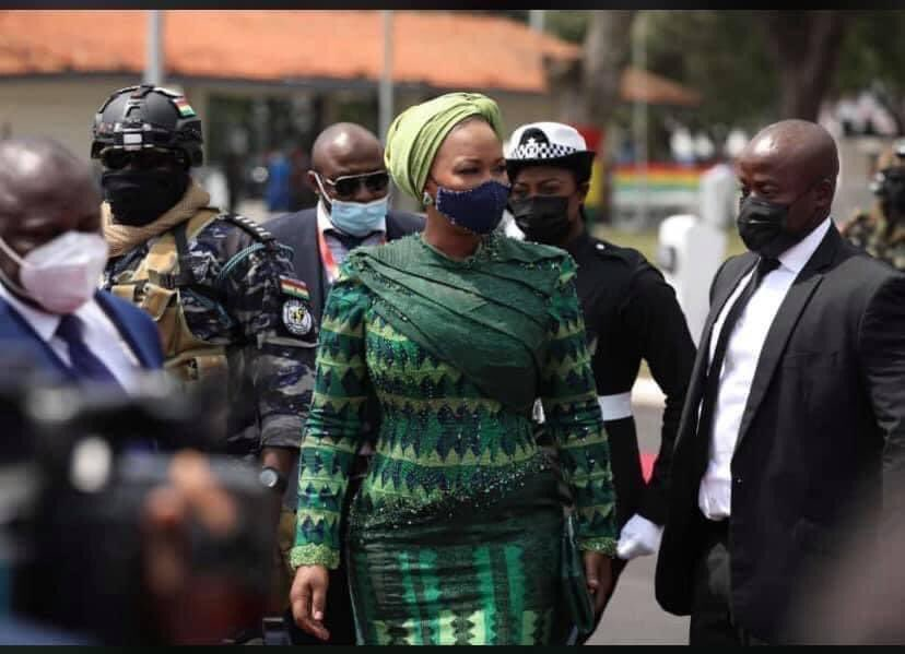 Presidential Inauguration: Samira Bawumia Earns Praise For Her Elegant Outfit
